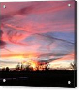 Winters' Sunset Rainbow Acrylic Print