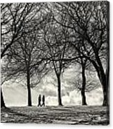 Winters Walk Acrylic Print