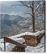 Wintertime At Hawks Nest  Acrylic Print