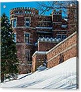 Wintery Lambert Castle Acrylic Print