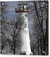 Wintry Lighthouse Acrylic Print