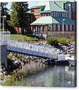 Winthrop Harbor Shore Acrylic Print