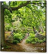 Wiscasset Sunken Garden Acrylic Print