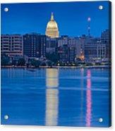 Wisconsin Capitol Reflection Acrylic Print