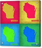 Wisconsin Pop Art Map 1 Acrylic Print