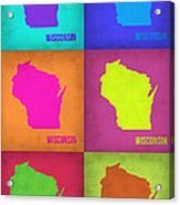 Wisconsin Pop Art Map 2 Acrylic Print