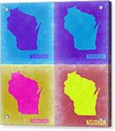 Wisconsin Pop Art Map 3 Acrylic Print