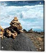 Wishing Rocks Acrylic Print by Andrea Dale
