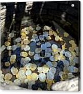 Wishing Well With Coins Perspective Acrylic Print