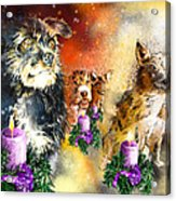 Wishing You A Blessed Advent Acrylic Print