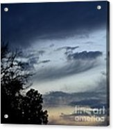 Wispy Clouds One December's Eve Acrylic Print