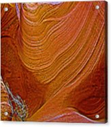 Wispy Relic In Lower Antelope Canyon In Lake Powell Navajo Tribal Park-arizona   Acrylic Print