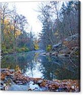 Wissahickon Creek - Fall In Philadelphia Acrylic Print