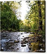 Wissahickon Creek Near Bells Mill Acrylic Print