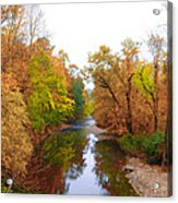 Wissahickon Creek Near Chestnut Hill College In Autumn Acrylic Print