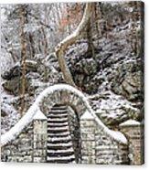 Wissahickon Steps In The Snow Acrylic Print