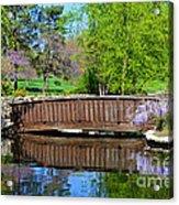 Wisteria In Bloom At Loose Park Bridge Acrylic Print