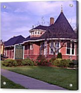 Witch's Hat Railroad Depot Acrylic Print