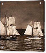 With Full Sails Acrylic Print by Dale Kincaid