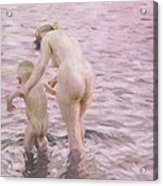 With Mother Acrylic Print by Anders Leonard Zorn