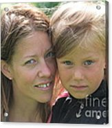 With Mother - Sweden. Acrylic Print