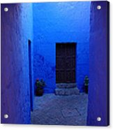 Within Bue Walls Acrylic Print