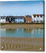 Wivenhoe Waterfront Acrylic Print by Gary Eason