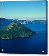 Wizard Island In Crater Lake, Oregon Acrylic Print