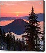 Wizzard Island Sunrise 4 Acrylic Print
