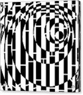 Wobbly Circles Maze  Acrylic Print