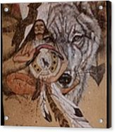 Wolf And Shaman  Acrylic Print