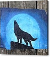 Wolf Howl2 Acrylic Print