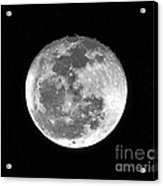 Wolf Moon Waning Acrylic Print by Al Powell Photography USA