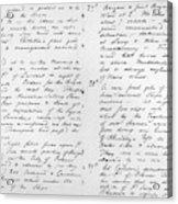 Wolfe Journal, 1759 Acrylic Print