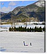 Wolffork Valley Winter Acrylic Print by Susan Leggett