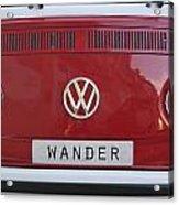 Wolkswagen Combi Red Acrylic Print