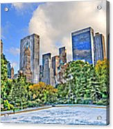 Wollman Rink In Central Park Acrylic Print