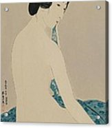 Woman After A Bath Taisho Era Acrylic Print