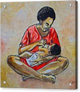 Woman And Child Acrylic Print