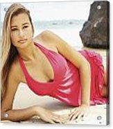 Woman At Anini Bay Acrylic Print
