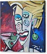 Woman At Martini Bar Acrylic Print