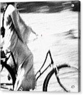Woman Cycling Acrylic Print