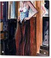 Woman Dressed Acrylic Print