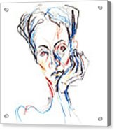 Woman Expression Acrylic Print