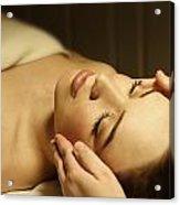 Woman Having A Facial Massage Acrylic Print