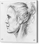 Woman Head Study Acrylic Print