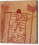 Woman Holding Yuccas Acrylic Print