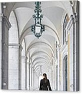 Woman In Archway  Acrylic Print
