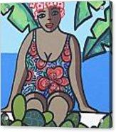 Woman In Bathing Suit 4 Acrylic Print
