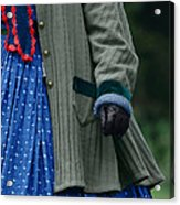 Woman In Civil War Period Clothing Acrylic Print